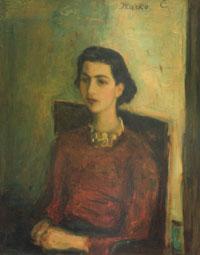 Marko Celebonovic, Portret devojke u crvenom, 1935-36.